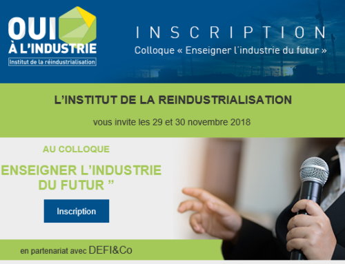 Colloque « Enseigner l'industrie du futur » – 29&30/11/2018